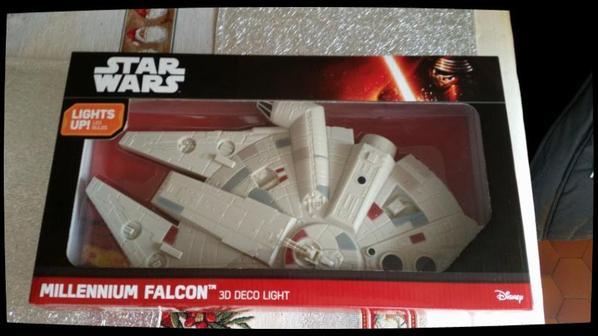 Star Wars, Lampe mural, Millennium Falcon