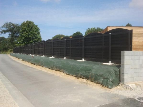 Une pallisade de clôture