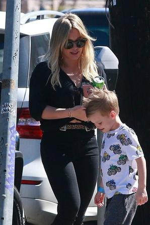 Hilary Duff & Son Fils Luca Cruz