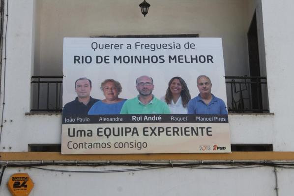 CARTAZES DE RUA - FREGUESIA DE RIO DE MOINHOS