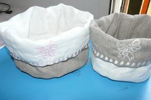 petites panières pour les produit de bébé