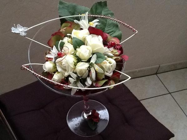 Coupe de roses blanches