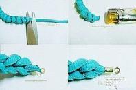 Comment faire un bracelet avec un lacet??
