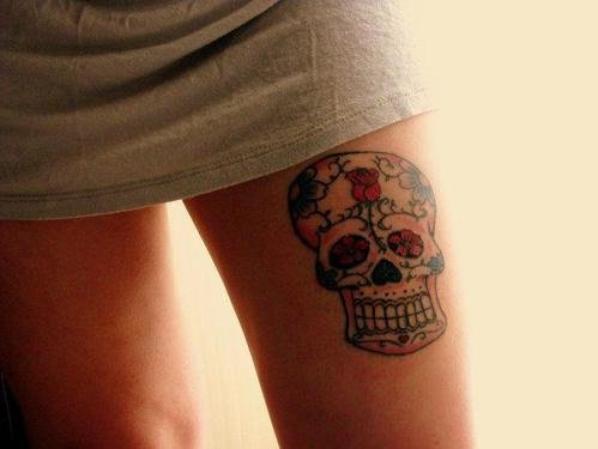Tatouage Tete De Mort Mexicaine Femme Photo Tatouage Femme Une T Te