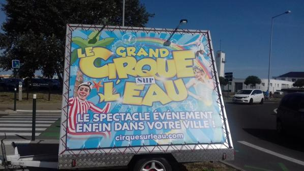 """""""reportage numėro 1 Lucrio ėtė 2018:""""Le cirque sur l'eau aux Sables d'olonne""""."""