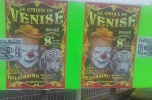 """""""reportage numéro 2 été 2018 Lucrio:le cirque de Venise de passage a St hilaire de Riez""""."""