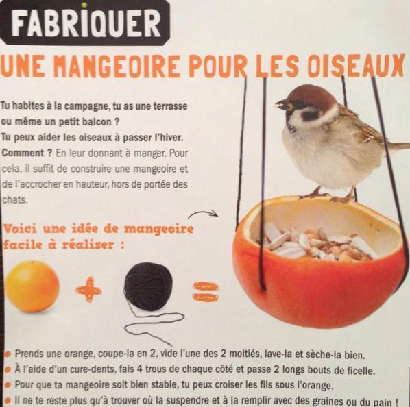 Mangeoires à oiseau (tuto image DIY gratuit)