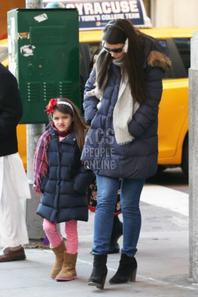 Suri et sa maman dans les rues de NY