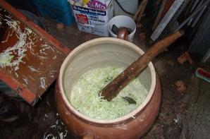 préparation de la choucroute