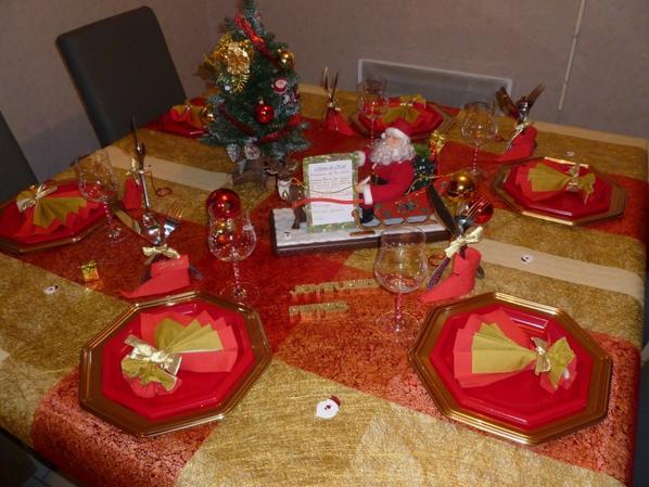 Réveillon de Noël déco de table