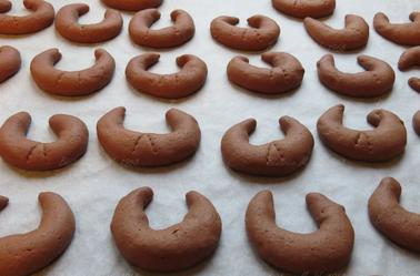 Bredele : croissants chocolat par Béa pour lorraineblog