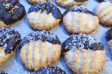 Bredele : biscuits à la noix de coco ou Schoco-Murbchen par Béa pour lorraineblog