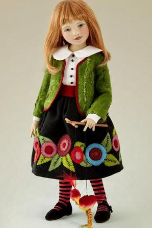 une nouvelle créatrice de poupées en tissus