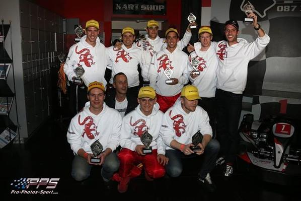 Team GTfusion.eu the winner of team spirit at 24H Eupener Karting