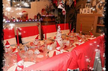 Voilà, en avant première ma table pour Noël.