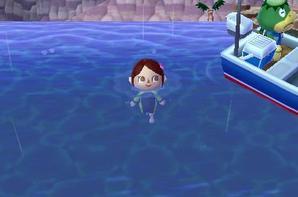 animal crossing moi dans l'eau dans ma maison et dans le musée