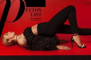 Peyton Roi List a posé pour la couverture d'un magazine !