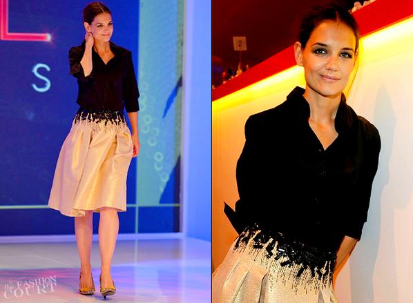Katie Holmes in Carolina Herrera   2012 Style Awards