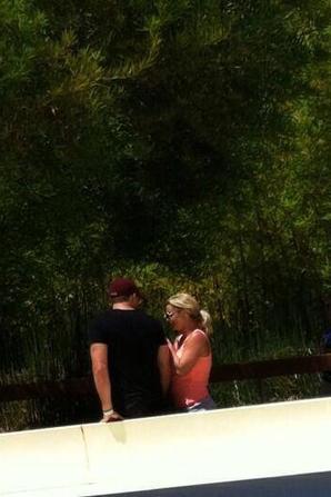 Britney et David au Six Flags Hurricane Harbor (Los Angeles)
