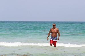 Shemar Moore à la plage