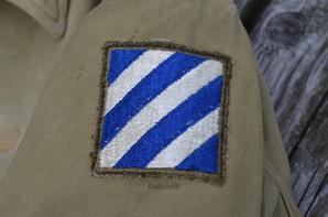 Veste US  Jacket Field Arctic 1944 3rd Infantry Divison  Vosges / Haute Saône