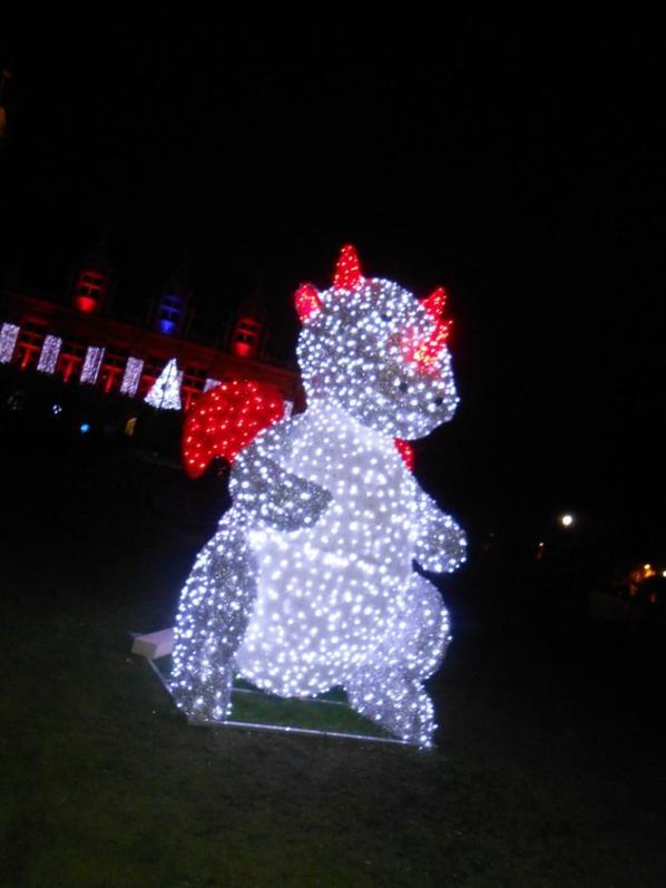 Calais ces illuminer pour les fete de fin d'année