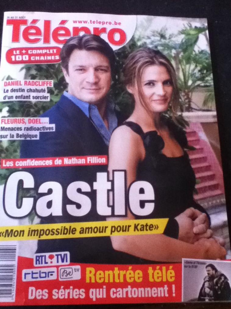 interview de nathan fillion dans le télépro ( magasine belge)