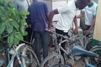 Remise  d'une partie des vélos...