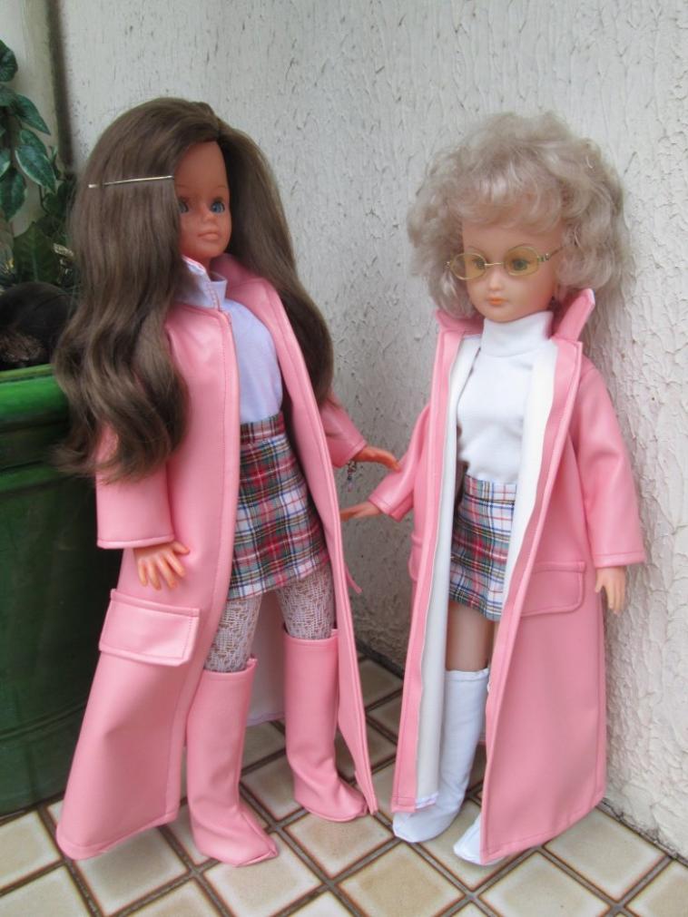 Cathie,Mélusine en tenue Maxi rose