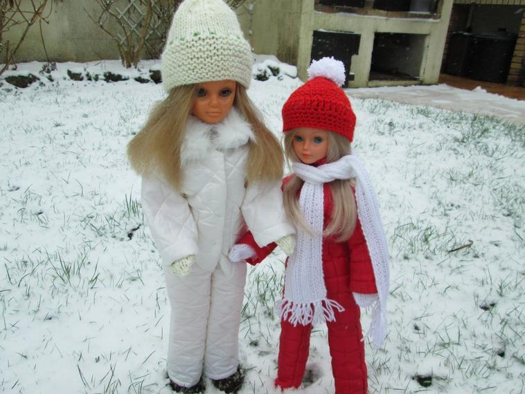 Cathie,Betsie dans la neige
