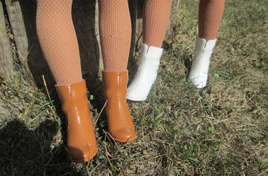 des bottes transformées en bottines