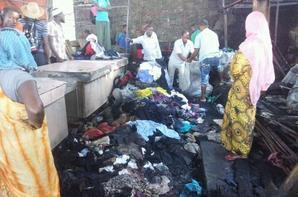 Marché de volovolo : Un Incendie criminel a ravagé les locaux où les vendeurs informels entreposent leurs affaires
