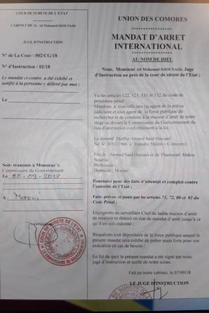 Le règime AZALI aux trousses de son vice-président Djanffar