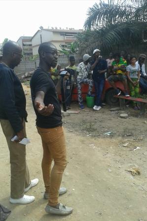 RTI  (Radio diffusion télévision ivoirienne) SALIM DIALLO   cadreur( cameraman - Monteur video - Réalisateur...) Nous sommes en plein tournage de l'émission 100/100 REGGEA  SUR RTI 2    DIEU EST AMOUR