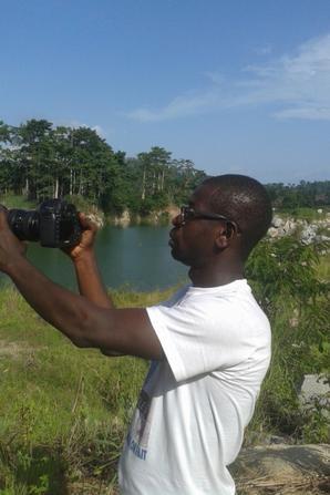 SALIM DIALLO en plein tournage