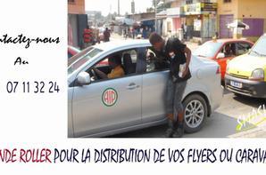 En côte d'ivoire pour la la Distribution de vos flyers ou Escortes sur les patins ou caravane Contactez le club les pros   LEGENDE ROLLER CLUB au +225 07 11324
