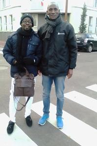 Salim Diallo et le Président de la Passerelle de l'Espoir