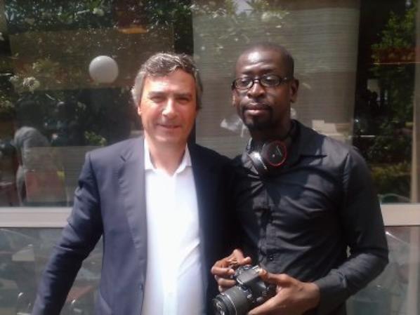 Salim Diallo en plein reportage