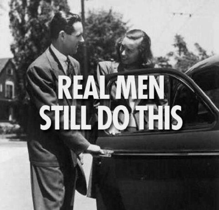 Le vrai homme continue de faire ça