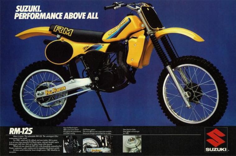 Spécificités 125 RM-Z 1982