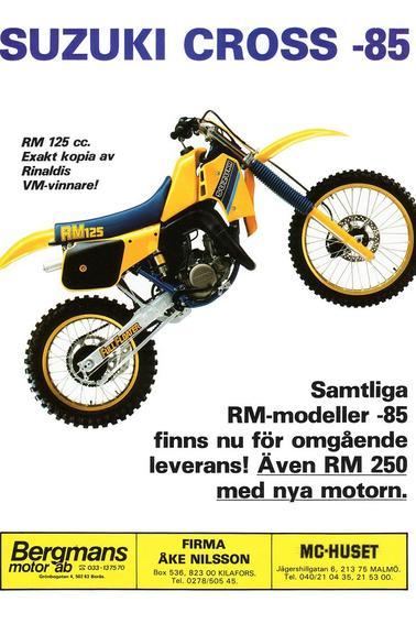 125 RM-E 1984          F-1985   G-1986