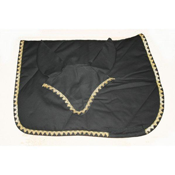 tapis noir Galons OR by mod-horse.fr