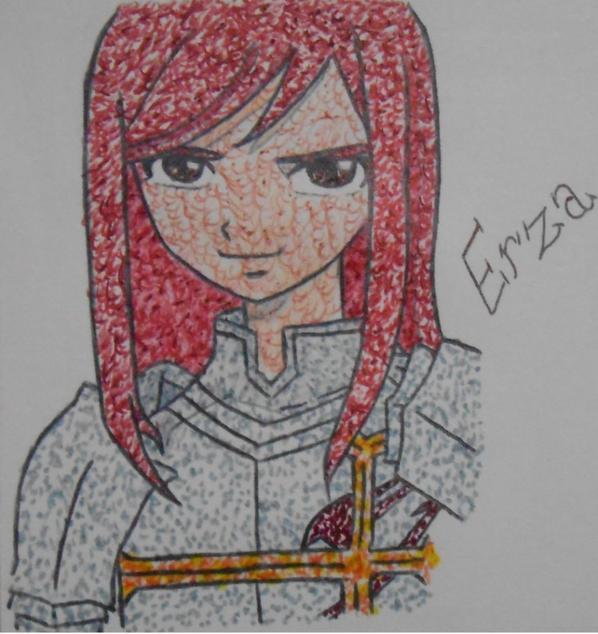Mes dessins (4)   Erza Scarlet