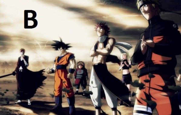Quel est ton type de manga préféré A:Shojo B:Shonen