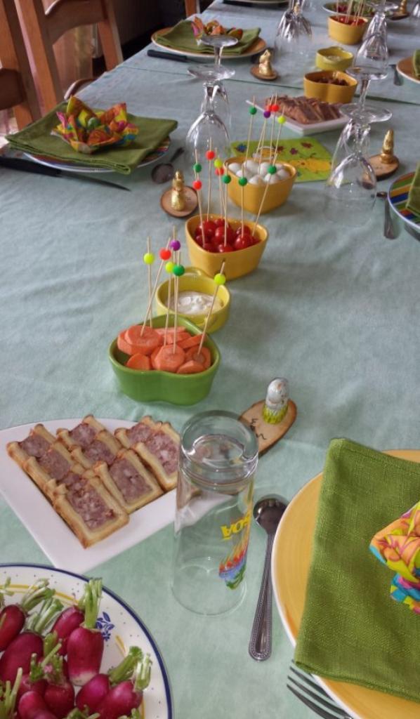 c'était ma table de Pâques....