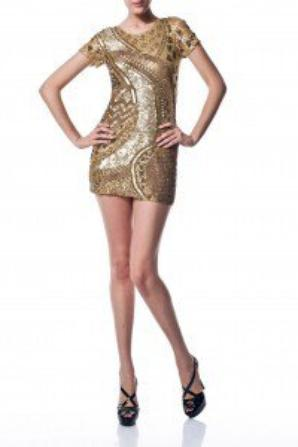 La robe de soirée dorée de NINA !