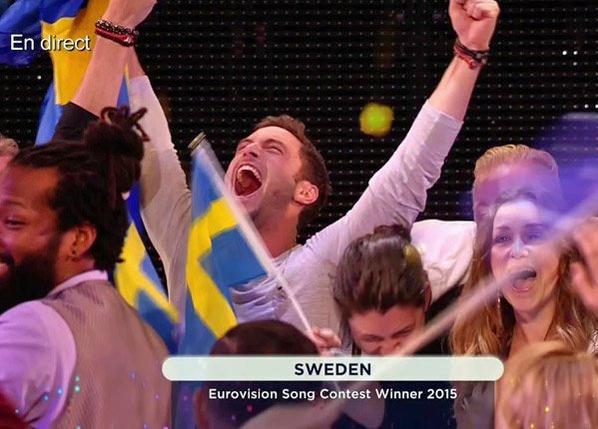 Måns Zelmerlöw grand vainqueur de l'Eurovision 2015 pour la Suède avec « Heroes », la France est 25e
