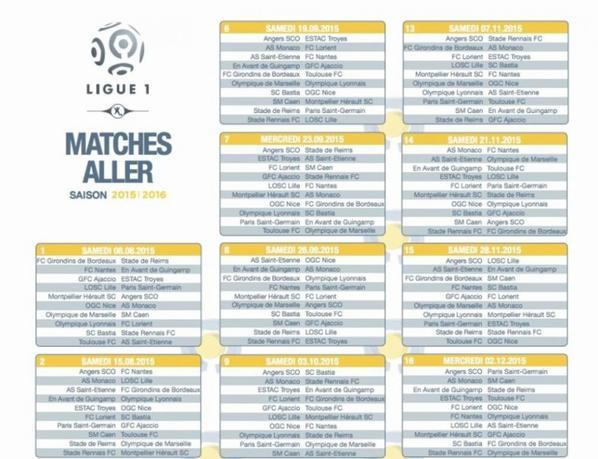 Calendrier 2015/2016: Lille-PSG en ouverture du Championnat
