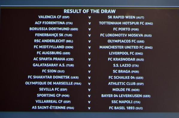 Saint-Etienne opposé au FC Bâle, Marseille affrontera l'Athletic Bilbao en 16es de finale de la Ligue Europa