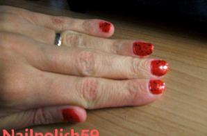 Vernis ROuge +Strass rouge!